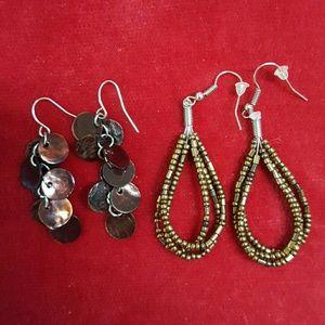❤3 for $15! Coppery earring bundle